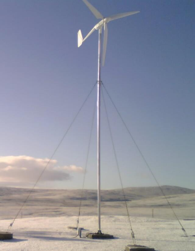 SW-2KW wind turbine to Ireland standalong system