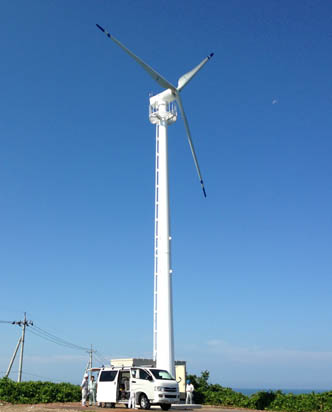 SWT20KW wind turbine export to Italy