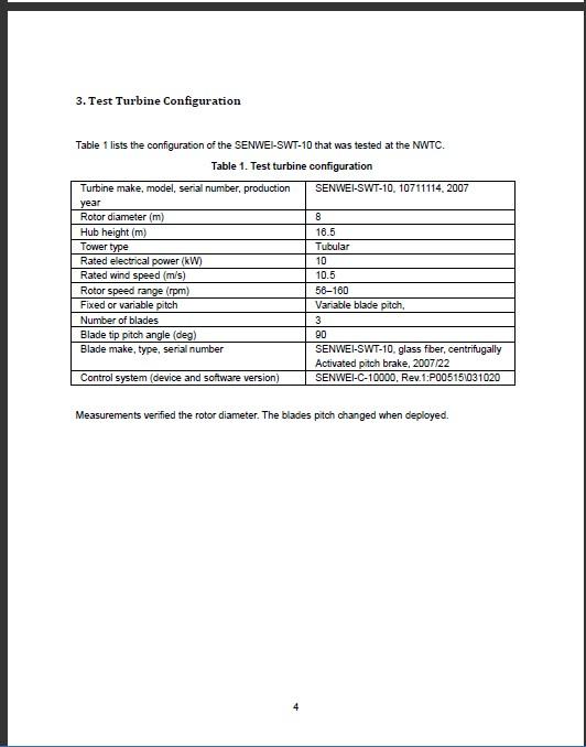 Iec61400 2 Technical Standards Document From Senwei Energy