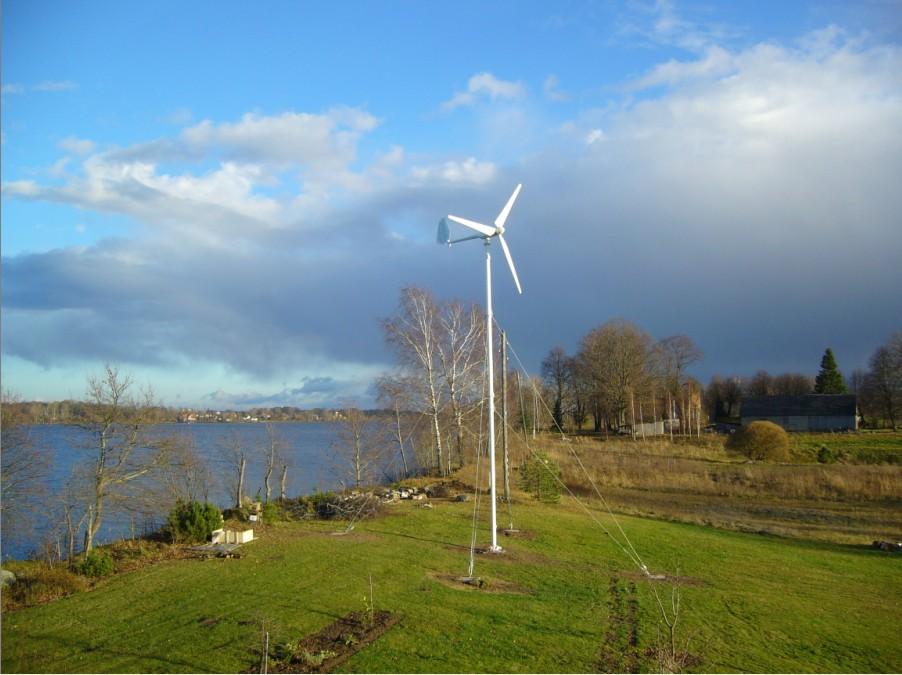 Sw3kw Wind Turbine Project At Latvia Senwei China Small
