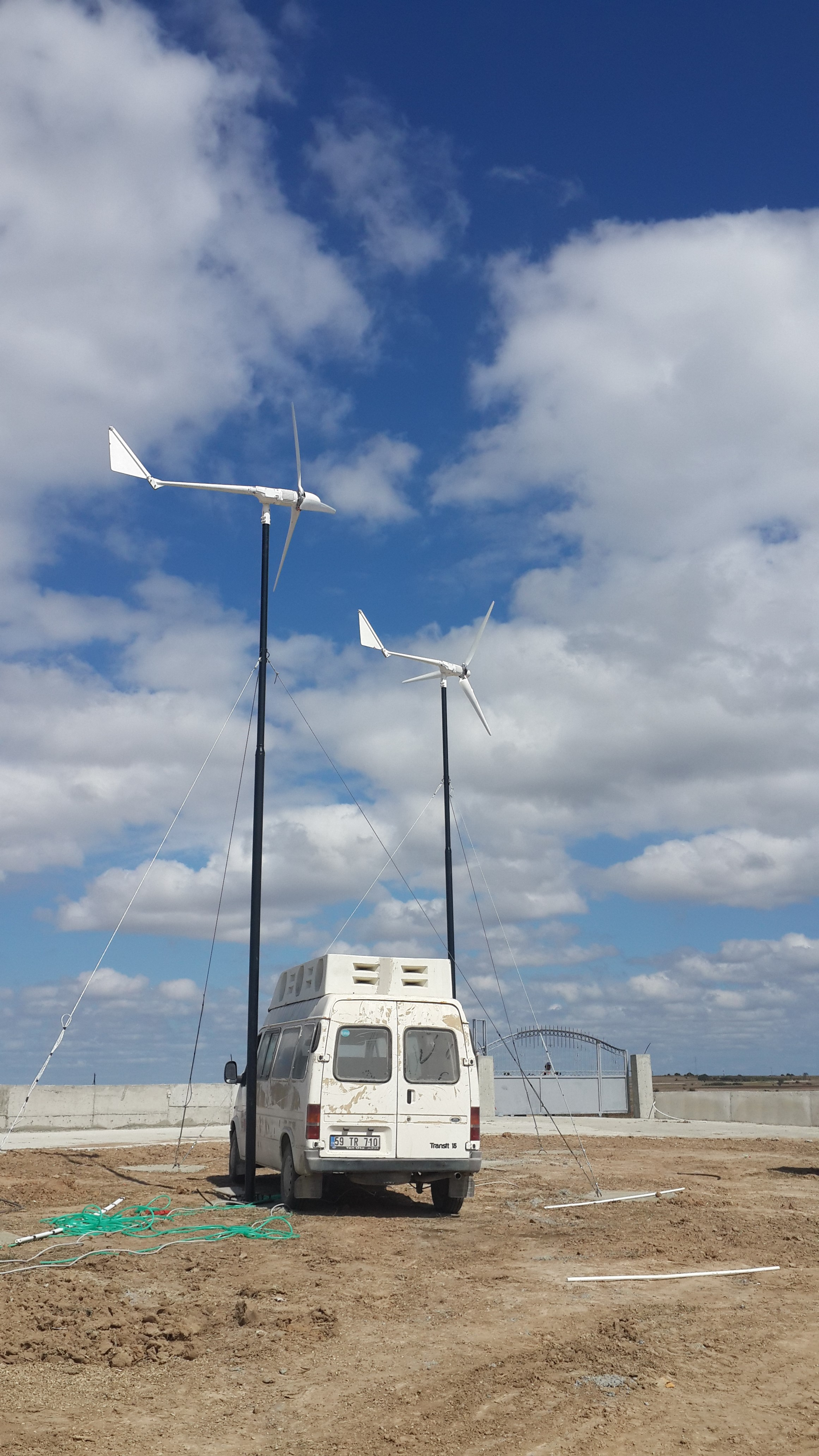 Turkey 1 5kw wind turbine 3sets installation plete Senwei China
