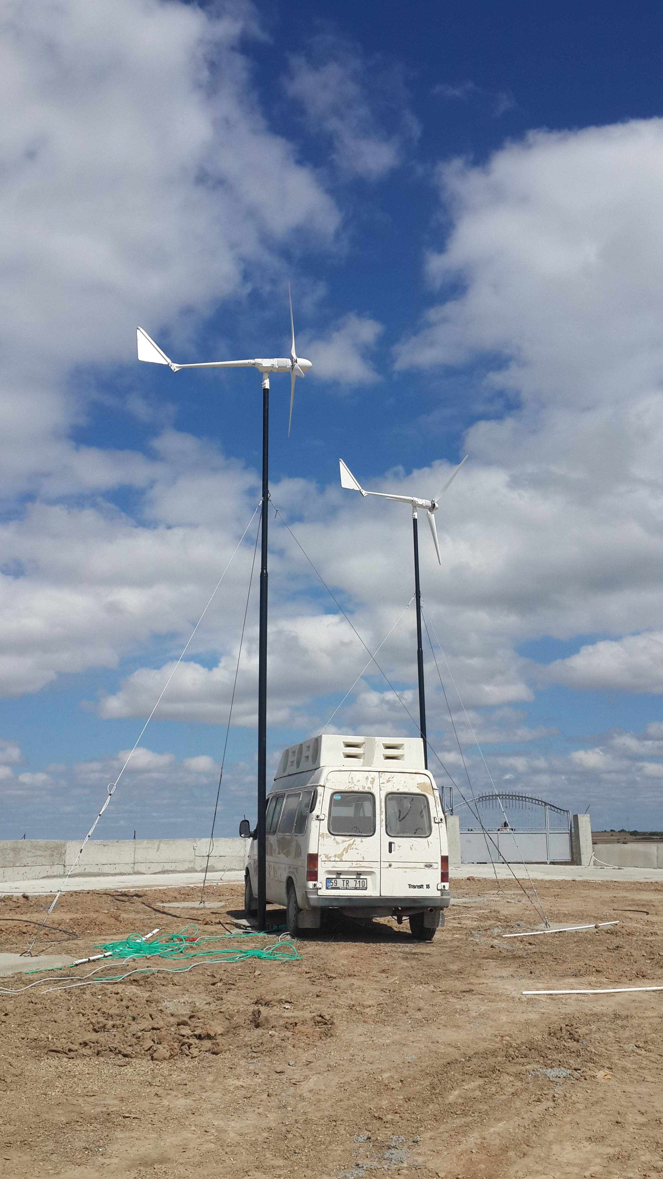 Turkey 1 5kw Wind Turbine 3sets Installation Complete