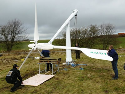 3Kw pitch controlled working at Denmark,Senwei-China small wind