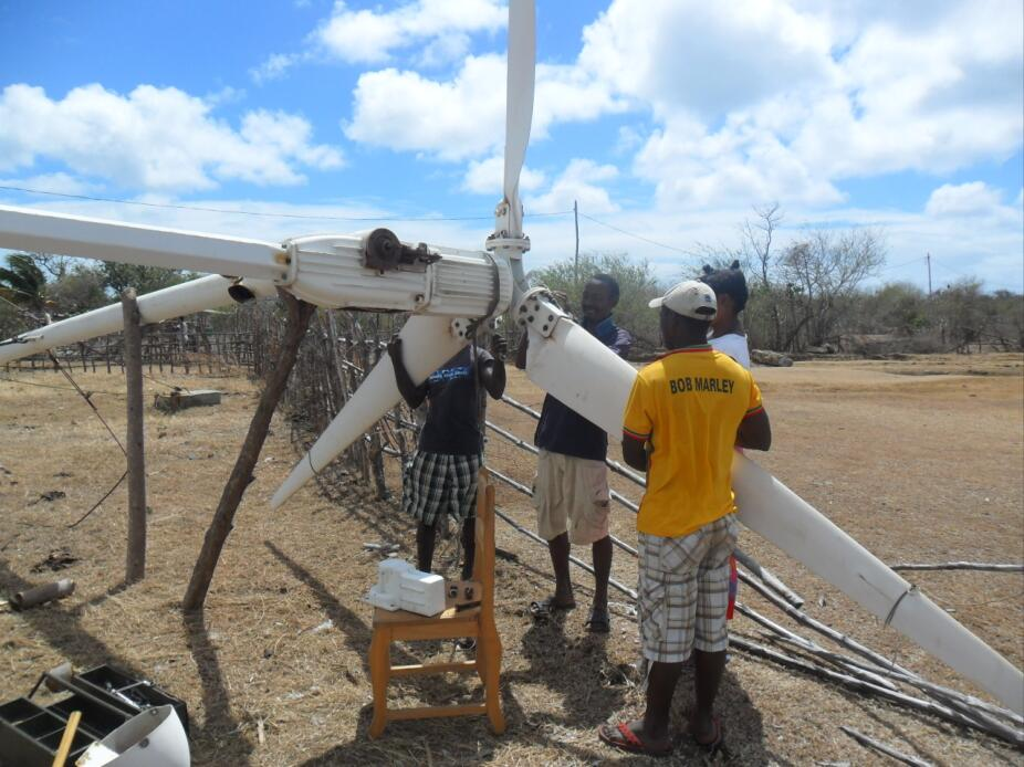 Madagascar 3KW wind turbine from SENWEY small wind turbine
