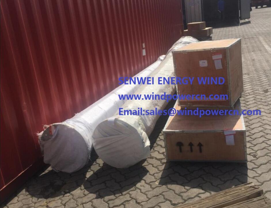 10KW wind turbine finish installation Brazil from SENWEI