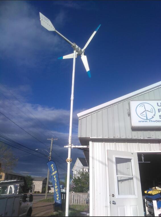 SW-300W micro wind turbine installation in Canada small wind